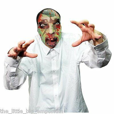 Zombie Mask - One Size Fits All! - Made Of Stretchy Fabric - Fancy Dress