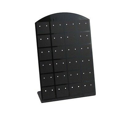 Hot 72 holes Earrings Display Stand Organizer Jewelry Holder Rack Showcase TR99
