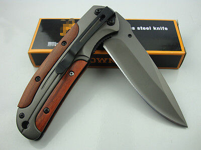 BRN Knife Quickly Opening Folding Pocket Saber Outdoor Sports Hunting Tool Gift
