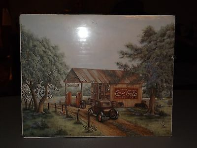Coca Cola Print by Kay Lamb Shannon - Martin's Garage - New in plastic