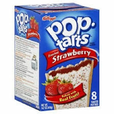 Kellogg's Pop Tarts Frosted Strawberry Toaster Pastries 14.7 oz Box