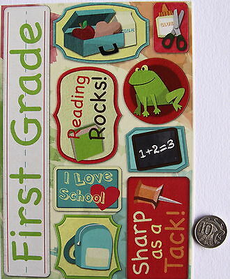 Scrapbooking No 176 - 9  Large First Grade School Sayings Stickers