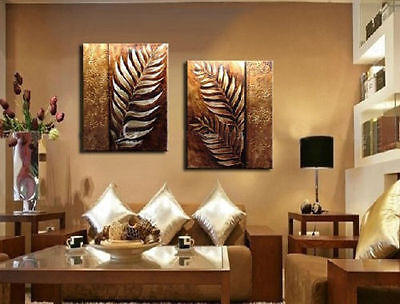 100% hand-painted oil painting, 2p combination of decorative wall art(no framed)
