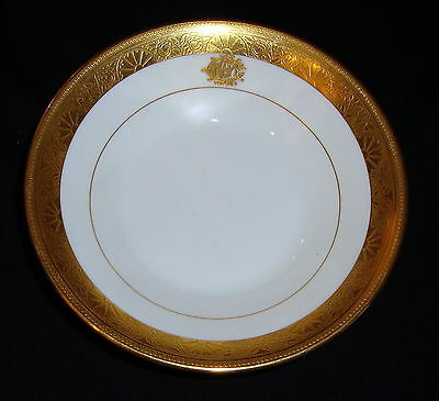 """MINTON England FOR TIFFANY & CO. Art Deco GOLD ENCRUSTED 6-1/8"""" Plate"""
