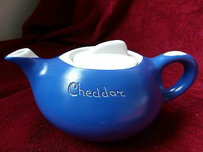 Vintage Fosters Studio Pottery Blue & White  Tea Pot * Cheddar * WestCountry UK