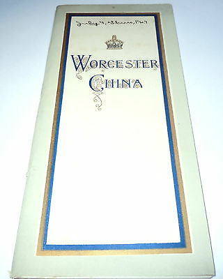 1929 WORCESTER CHINA Booklet A GUIDE THROUGH WORCESTER ROYAL PORCELAIN WORKS