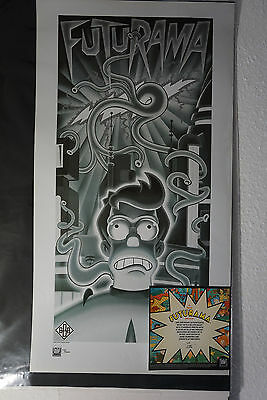 "Futurama ""Beast with a Billion Backs"" Limited Print ""METROPOLIS-Style"" + COA"