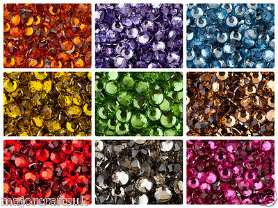 1000pcs 5mm ss20 Flat Back 14 Facets Resin Rhinestones Diamante Craft Gems Beads
