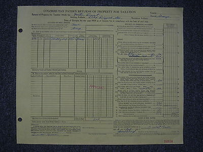 "Fe-1955 ""COLORED TAX PAYER'S RETURNS OF PROPERTY FOR TAXATION""(Ringgold GEORGIA)"