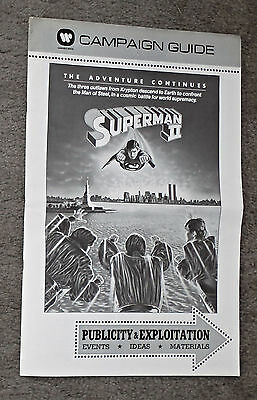 SUPERMAN 2 original 1981 movie pressbook CHRISTOPHER REEVE/TERENCE STAMP