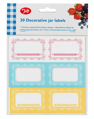 30 Tala Jam Jar labels preserves chutneys pickles freezer proof 6cm x 4cm C