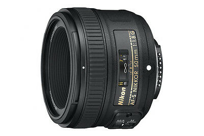 NEW Nikon Lens AF-S NIKKOR 50mm F1.8G Standard Camera Accessories