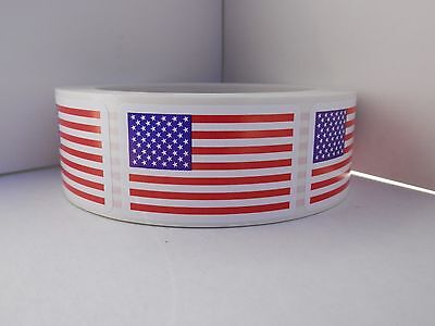 Made in America / USA Flag picture only, no wording,  Sticker Label 250/rl
