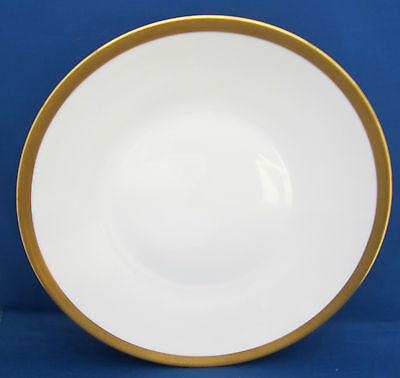 Dinner Plate Hutschenreuther 03903 White Encrusted Gold Band Tiny Diamonds