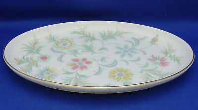 Relish Dish Dresser Tray Minton Bone China England VANESSA Green Leaves Colorful