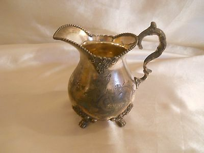 Antique / vintage Quadruple Silverplated Footed Creamer St. Louis Silver Co.