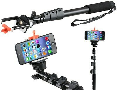 New Black C-188 Extendable Handheld Monopod for Cameras & Cell Phones
