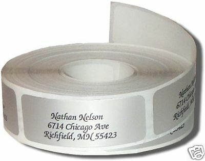 300 SILVER Address Labels on rolls