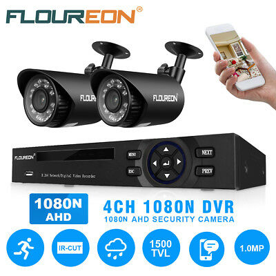 8 Channel 960H HDMI CCTV DVR 4 Outdoor 900TVL Video Camera Home Security System