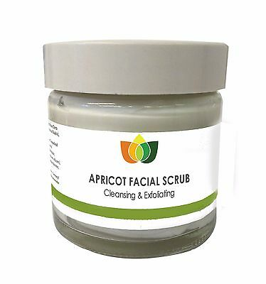 Apricot Facial Scrub - Face Cleansing & Exfoliating Aromatherapy Multiple Sizes
