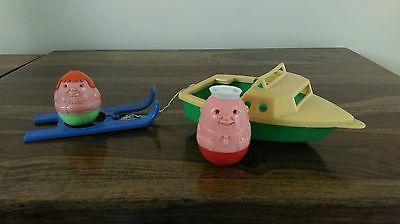 VINTAGE 1970'S AIRFIX SPEEDBOAT WITH SKI'S , SAILOR AND WENDY WEEBLE