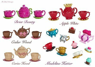 Ever After High Doll Hat-Tastic Tea Party Replacement Tea Sets Teapot Teacups