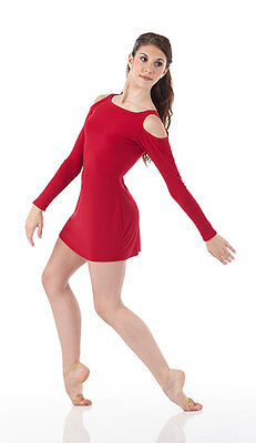 Contemporary Christmas Lyrical Dance Dress Ballet Costume RED Child & Adult Size