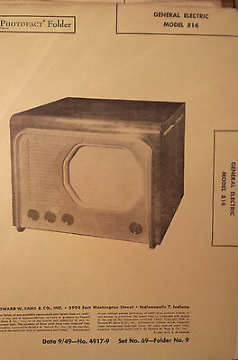 Rembrandt TV, 721,1606,1950, Vintage Schematic Manual Sams Photofact, dated 1949