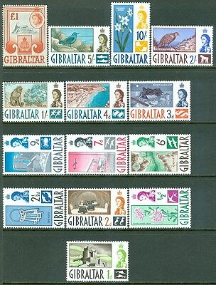 GIBRALTAR : 1960-73. Stanley Gibbons #160-73. Very Fine, Mint NH. Cat £80