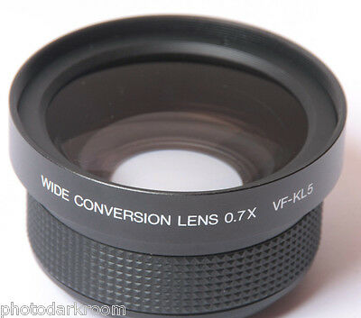 Olympus VF-KL5 Wide Angle Auxiliary Lens 49mm Threaded 0.7x Good Glass USED D14