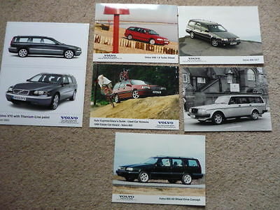 "VOLVO ESTTATES PRESS PHOTOS x 6 "" BROCHURE "" jm"