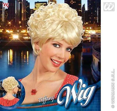 Short Blonde Wig With Fringe Beehive Style Duffy Fancy Dress