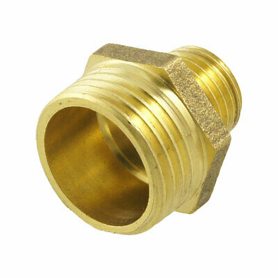 """0.9"""" Length 1/4"""" PT to 1/2"""" PT Male Hex Nipple Reducing Connector Fitting New"""