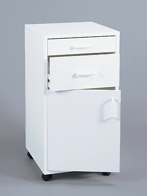 Dental Medical ~2 Drawers w/ Door~  | *ASSEMBLED* | MOBILE CART CABINET