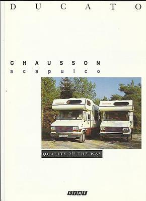 FIAT DUCATI CHAUSSON ACAPULCO MOTORHOME SALES BROCHURE LATE 80's