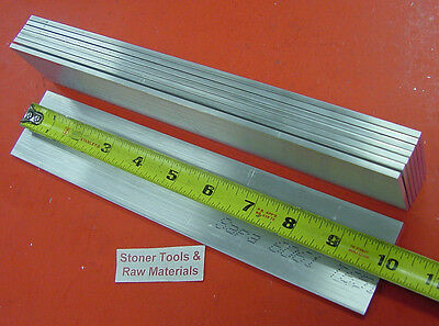 "9 Pieces 1/8"" X 2"" ALUMINUM 6061 FLAT BAR 10"" long .125"" T6511 Plate Mill Stock"