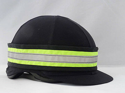 Fluorescent hi viz hat band - yellow and pink - for horse riding