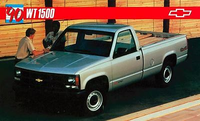 1990 Chevrolet WT1500 Pickup Truck ORIGINAL Large Factory Postcard my0750