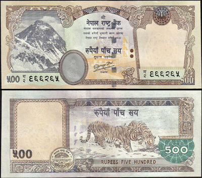 NEPAL 2010  Rs 500 EVEREST BANKNOTE w/signature 19 UNC