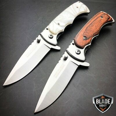 2 PC TAC FORCE Tactical Spring Assisted Open FOLDING BLADE Pocket Knife NEW EDC