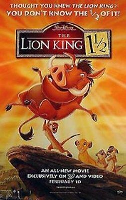 The Lion King 1 1/2 Original Movie Poster, Single-Sided Video 26 X 40
