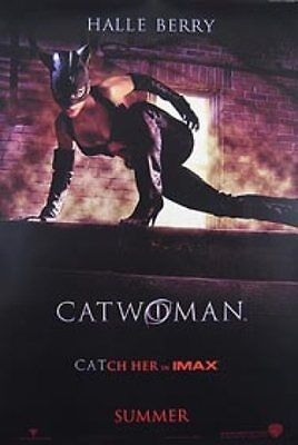 Catwoman Original Movie Poster 27X40 Halle Berry, Double-Sided Advance Imax 27x4