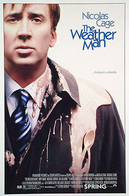 The Weather Man Original Movie Poster 27X40 Nicolas Cage, Double-Sided Regular 2