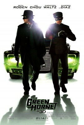 The Green Hornet Original Movie Poster 27X40 Seth Rogen, 27x40 Double-Sided Reg