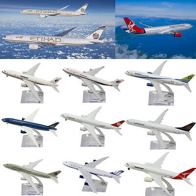 16CM Metal Model Plane Aircraft Airlines Boeing Diecast Aeroplane Scale Desk Toy