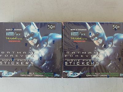 1995 Topps Batman Forever Lot Of 2 Factory Sealed Movie Photo Sticker Boxes