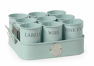Sophie Conran Bits & Bobs Gardeners Gubbins pots on a tray labels wire-4 colours