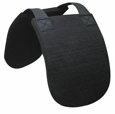 English Or Western Horse Wither Relief Saddle Pad Black Felt Protection
