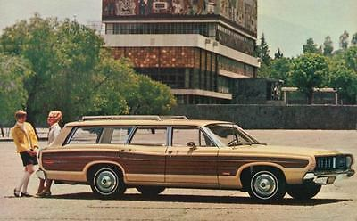 1968 Ford Country Squire Station Wagon ORIGINAL Factory Postcard my0765