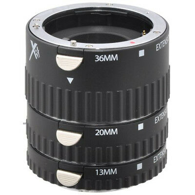 Xit Photo Sony Pro Series Auto Focus Macro DSLR Camera Extension Tube Set -XTETS